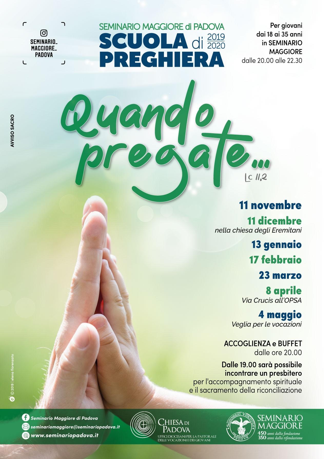 Manifesto Scuola di Preghiera del Seminario Maggiore 2019-2020