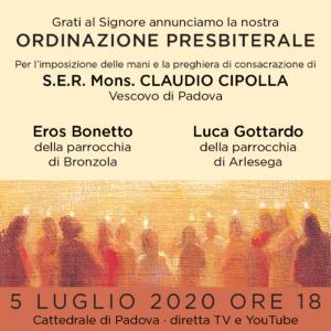 Ordinazione presbiterale 2020 @ Cattedrale di Padova